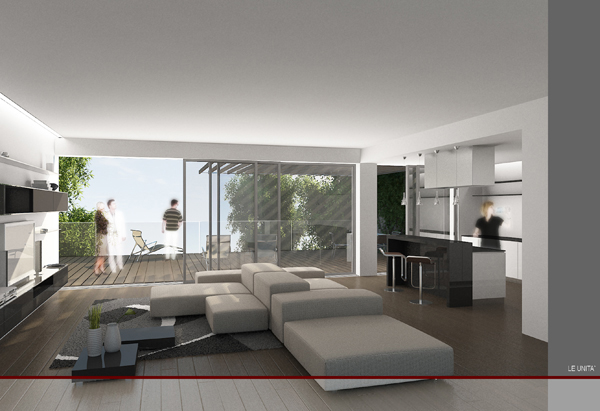 Laboratorio di architettura complesso residenziale in como for Laboratorio con alloggi