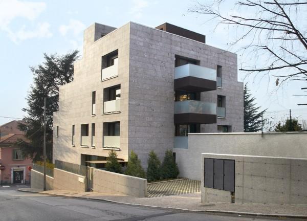 Laboratorio di architettura edificio residenziale in como for Architettura residenziale contemporanea